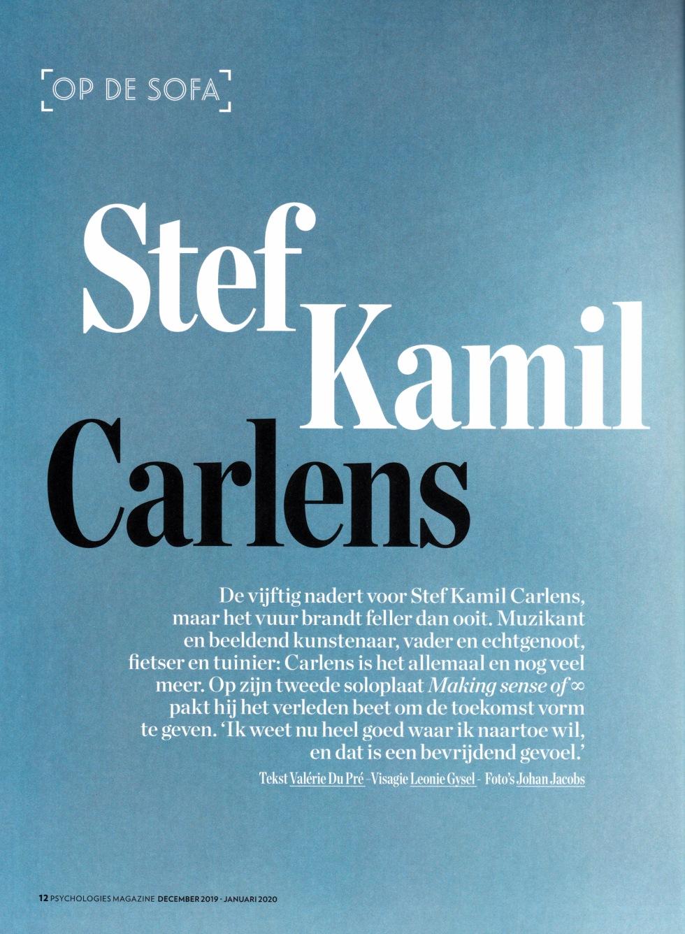 Psychologies Stef Kamil Carlens winter 2019